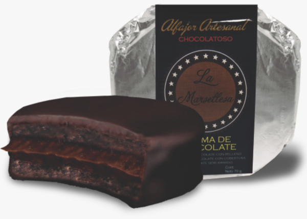 Alfajor Chocolatoso de crema de chocolate 70g