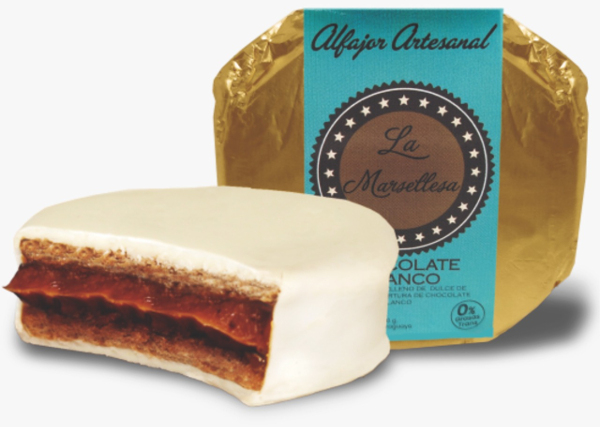 Alfajor clasico de Chocolate blanco 70g