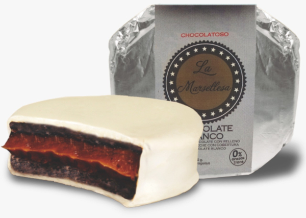 Alfajor chocolatoso blanco 70g